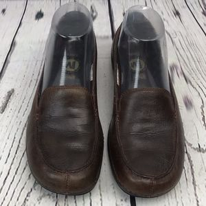 Merrell Shoes - Merrell Parma Olive Brown Soft Leather Loafers 6.5